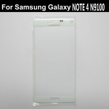 Front outer touch screen glass lcd lens repair for Samsung Galaxy note 4 white