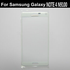 Front-outer-touch-screen-glass-lcd-lens-repair-for-Samsung-Galaxy-note-4-white