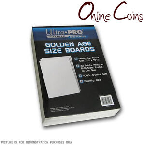 Ultra Pro Comic Series - GOLDEN Size Comic Backing Boards x 100 74427811280