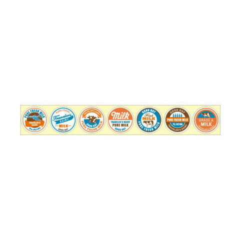 MIDORI Dairy ROLL STICKER 70 Pcs USA warehouse MadeinJAPAN Kawaii