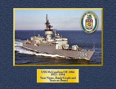 USS McCandless FF 1084 Personalized Canvas Ship Photo 2 Print Navy Veteran Gift