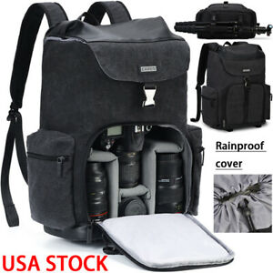 Large-Black-Canvas-Camera-Bag-Backpack-For-Canon-Nikon-Sony-Leica-Pentax-SLR