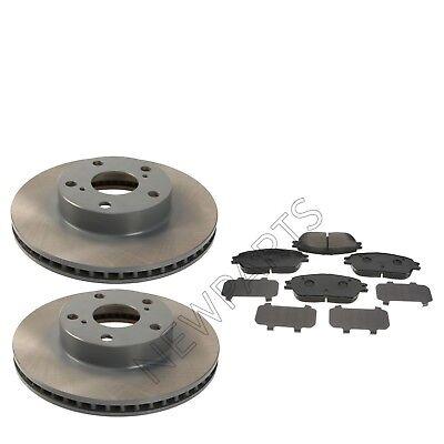 Front Drilled Brake Rotors Semi Metallic Pads Fit 05-15 Toyota Tacoma 5 Lugs