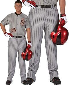 Rawlings Youth Relaxed Fit Open Bottom Pinstripe Baseball Pants Ybp95mr Ebay