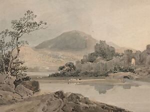 THOMAS-GIRTIN-BRITISH-CONWAY-CASTLE-NORTH-WALES-OLD-ART-PAINTING-POSTER-BB6420A