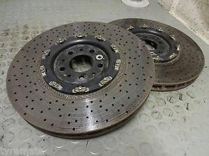 2-x-KERAMIKSCHEIBE-FERRARI-430-Scuderia-F430-16M-CCM-240546-Ceramic-396-x-36-mm