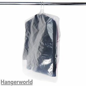 15-Thick-Polythene-Garment-Covers-Suit-Clothes-Protector-Bags-38-034-Hangerworld