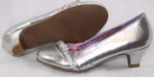 "NEW Girls Kids Youth STEVE MADDEN JKymmie 2/"" Heels Silver Dress Up Shoes"