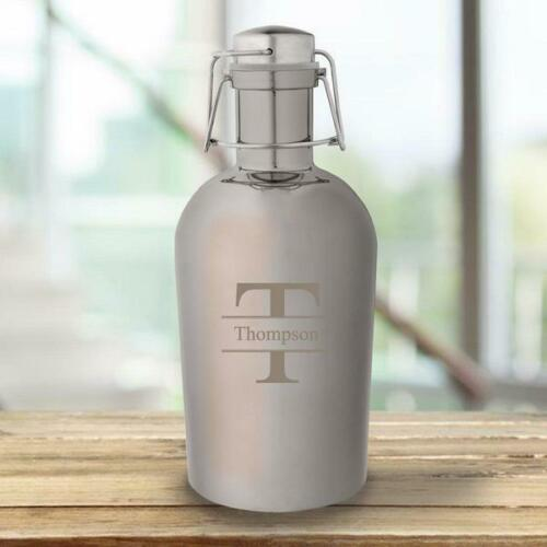 Details about  /Personalized Gunmetal Growler Metal