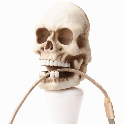 1pc Threader Ghost Head Hanging Halloween Decor Skull Key Ring Home Hook
