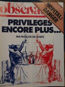 NOUVEL-OBSERVATEUR-N-963-1983-HOPITAL-DANGER-PRIVILEGES-DE-CLOSETS