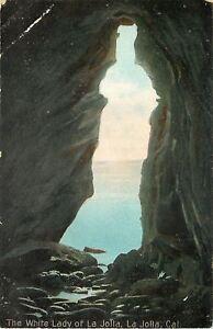 La-Jolla-California-The-White-Lady-Of-La-Jolla-1910-Postcard-As-Is