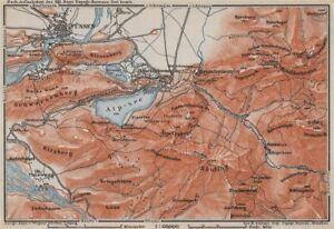 Professional Sale Hohenschwangau & FÜssen Environs Alpsee Deutschland Österreich Karte 1910 Map Pure Whiteness Art Prints
