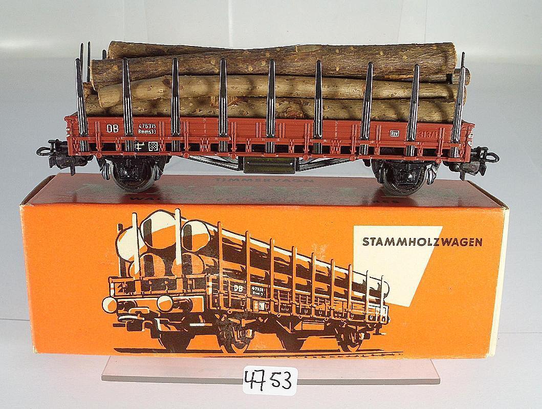 Märklin H0 313 2H Stammholzwagen Rmms33 2-achsig  DB 2 Wechselstrom OVP