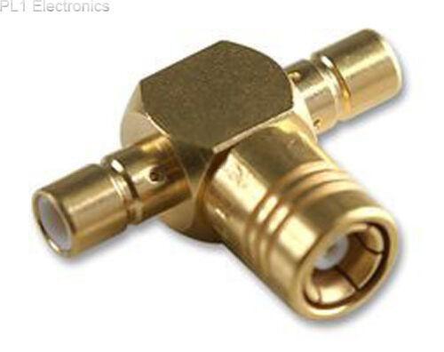 RADIALL - R114780000 - ADAPTOR, SMB T PLUG TO PLUG+JACK