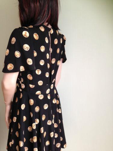 Skater Swing Coin Design Mini Dress  By John Zack sizes 8-14