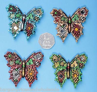 1pc Grande Farfalla In Resina Cabochon Memo, Frigorifero, Arredamento Magneti Vernice Metallica- Promuovi La Produzione Di Fluidi Corporei E Saliva