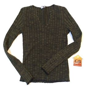Medium Size M Women s Sweater shirt LEI brand Ribbed Green Long ... 9c2872bc0
