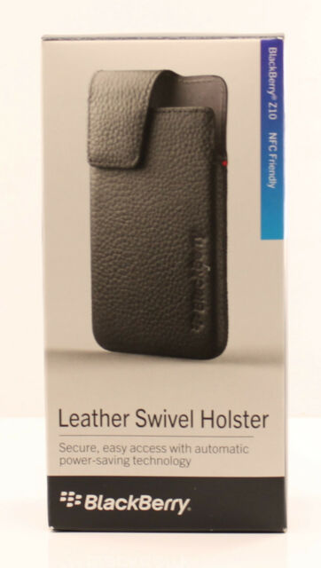 finest selection 41065 2747c OEM BlackBerry Z10 Leather Swivel Holster Case