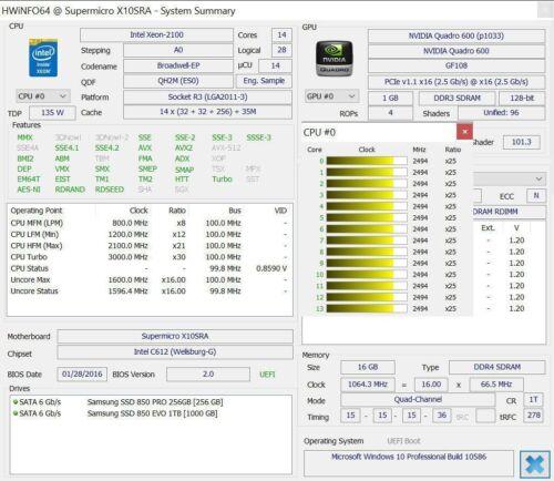 Intel Xeon E5-2690 v4 ES QH2M 2.1GHz 14C LGA2011-3 support X99 i7-5820K 5960X