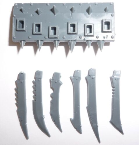 Skaven Plague Furnace//Screaming Bell Front Plate /& Blades G1324
