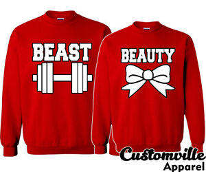 b1f8e1087 Image is loading Beauty-and-Beast-Couple-Matching-Sweaters-Valentine-039-