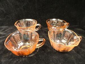 Pink-Princess-Depression-Glass-Coffee-Cups-Set-of-4