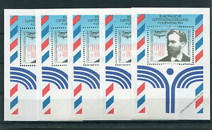 5-x-Bund-Block-Nr-24-sauber-postfrisch-BRD-1543-Lilienthal-1991-Sammlung-MNH