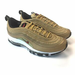 NWT Nike Men's Air Max 97 OG QS Metallic Gold Red Sneakers DS 2017 10 AUTHENTIC
