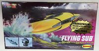FLYING SUB MiniModel Kit Voyage to the Bottom of the Sea Irwin Allen Transparent