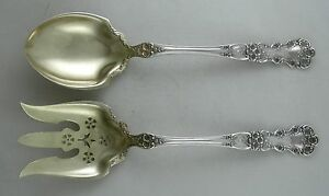 Sterling-Gorham-BUTTERCUP-salad-set-with-vermeil-gold-wash-Pat-1900