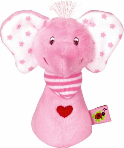 Minirassel Elefant ab 0 Monaten rosa BabyGlück Die Spiegelburg 9 cm ca