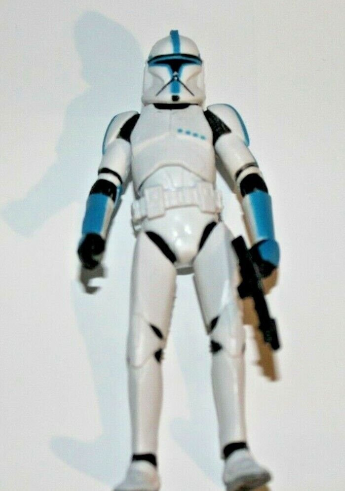 STAR WARS VC CLONE TROOPER LIEUTENANT blueE RARE MINT ACTION FIGURE