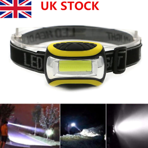 UK Head Torch For Fishing Running Mechanics Very Bright 12 LED 3 Modes Outdoor