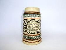 Bierkrug Krug mit Spruch um 1900