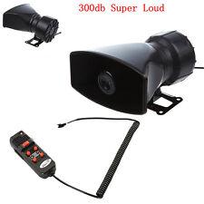 12V 60W Car Truck Electric Air Horn Siren Speaker 5 Sound Tone Super Loud 300db