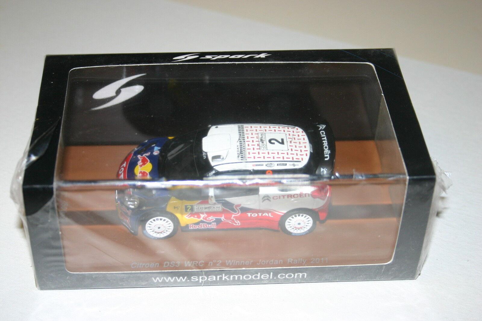 1 43 Citroen Ds3 WRC  2 Ogier Ingrassia Ganador Jordan Rally 2011 Ltd 500 Spark