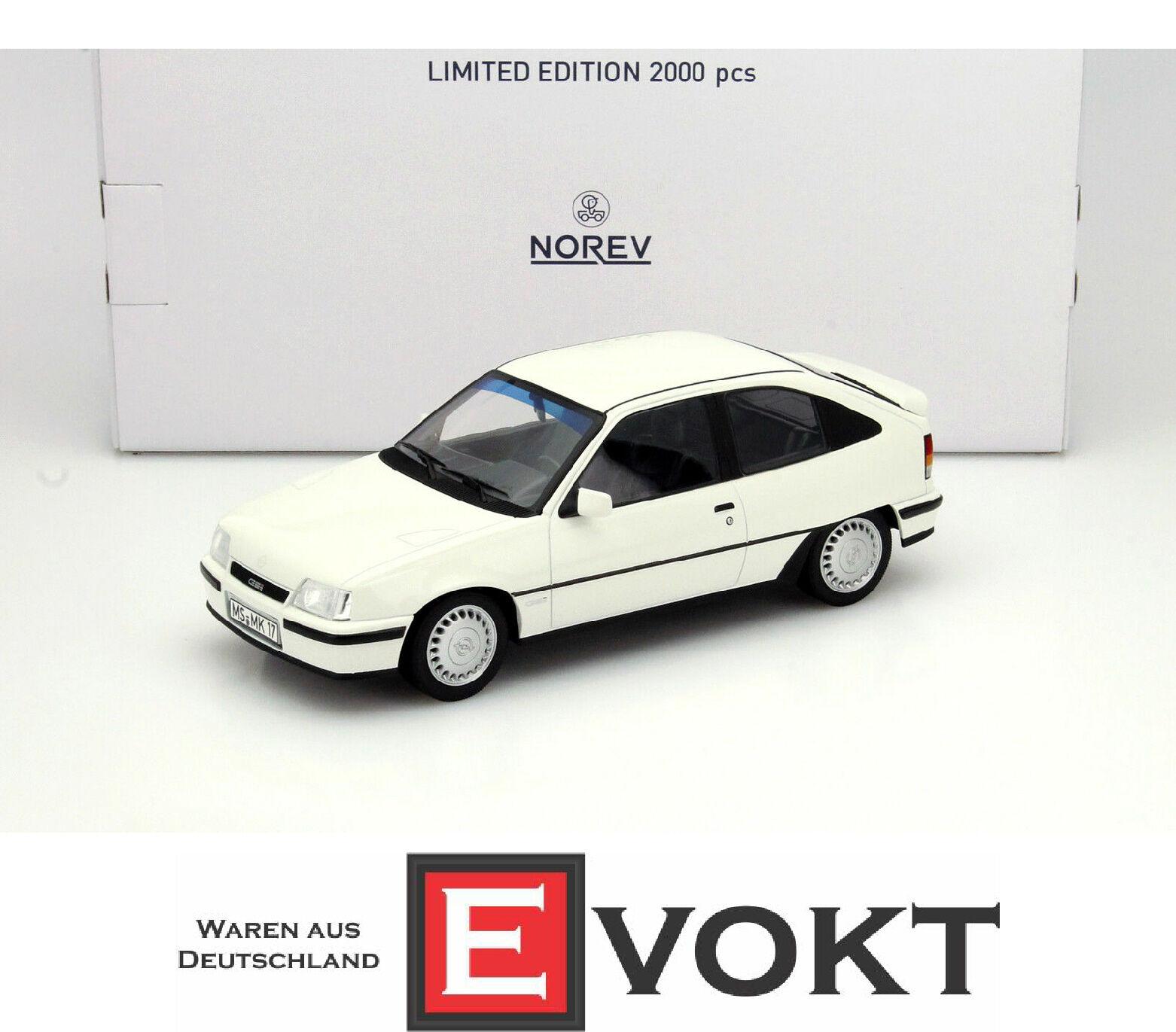 1 18 Norev Opel Kadett E GSi 1984-1991 white
