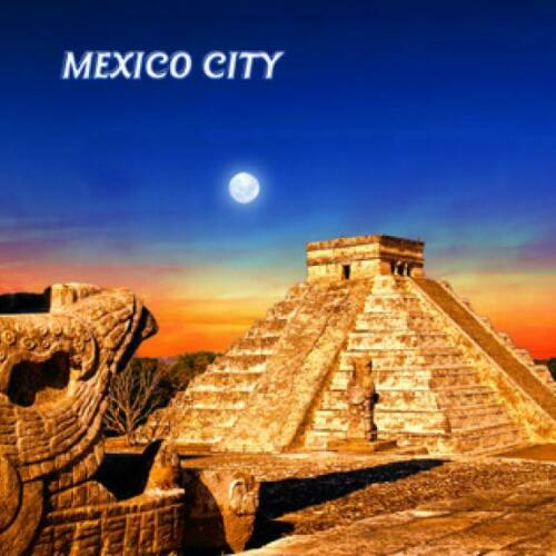 8x8 CM nuevo México City maya templo foto imán epóxido méxico Souvenir