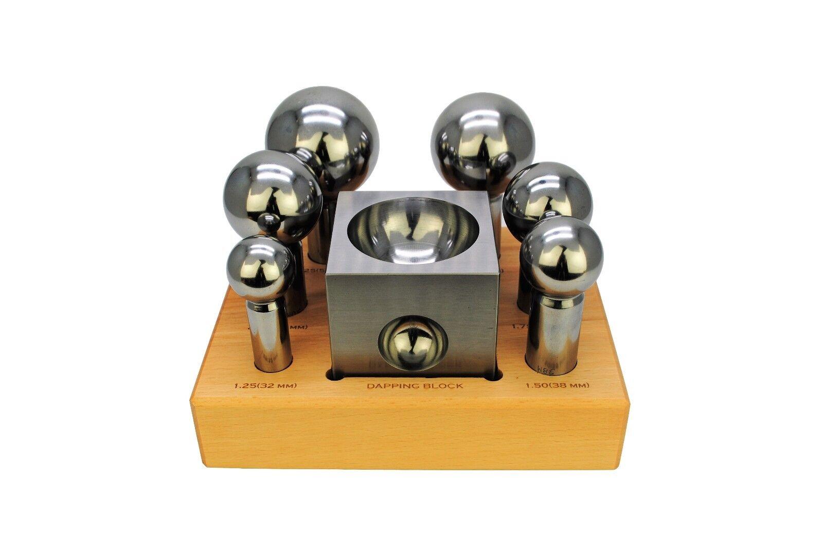 XL dômes Acier dômes XL Dapping 6 Piece Punch Set, 32 - 63 mm Poinçons & Bloc. J1328 bc2808