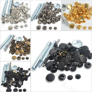 Snap-Fasteners-10-12-5-1517mm-15-Sets-Press-Studs-Kit-Poppers-Buttons-w-Tool-UK