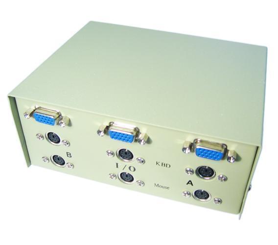 GP1174 HD15 Female / 6 Pin Mini Din Female, 4 Port manual KVM Switch