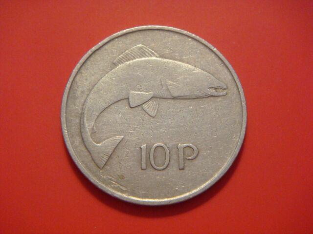 Ireland Republic 10 Pence, 1969, Salmon