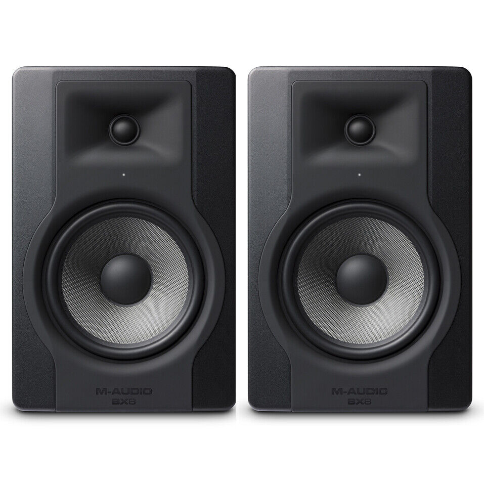 2 x M-Audio BX8 D3 - 8  Active Studio Monitor Speakers