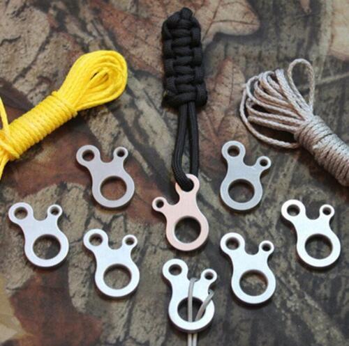 3Pcs EDC Survival Buckle Multi-purpose Stainless Steel Outdoor Knotting Tool JI