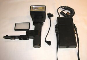 CANON-Speedlite-577G-Blitz-Blitzgeraet-Stabblitz-mit-Transitor-Pack-G