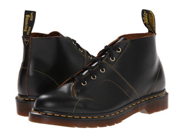 3d0ed17dc6a Men's Shoes Dr. Martens CHURCH Leather Monkey Boots 16054001 BLACK *New*