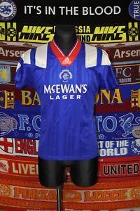 """4.5/5 Rangers adults 34-36"""" S 1992 home football shirt jersey trikot soccer"""