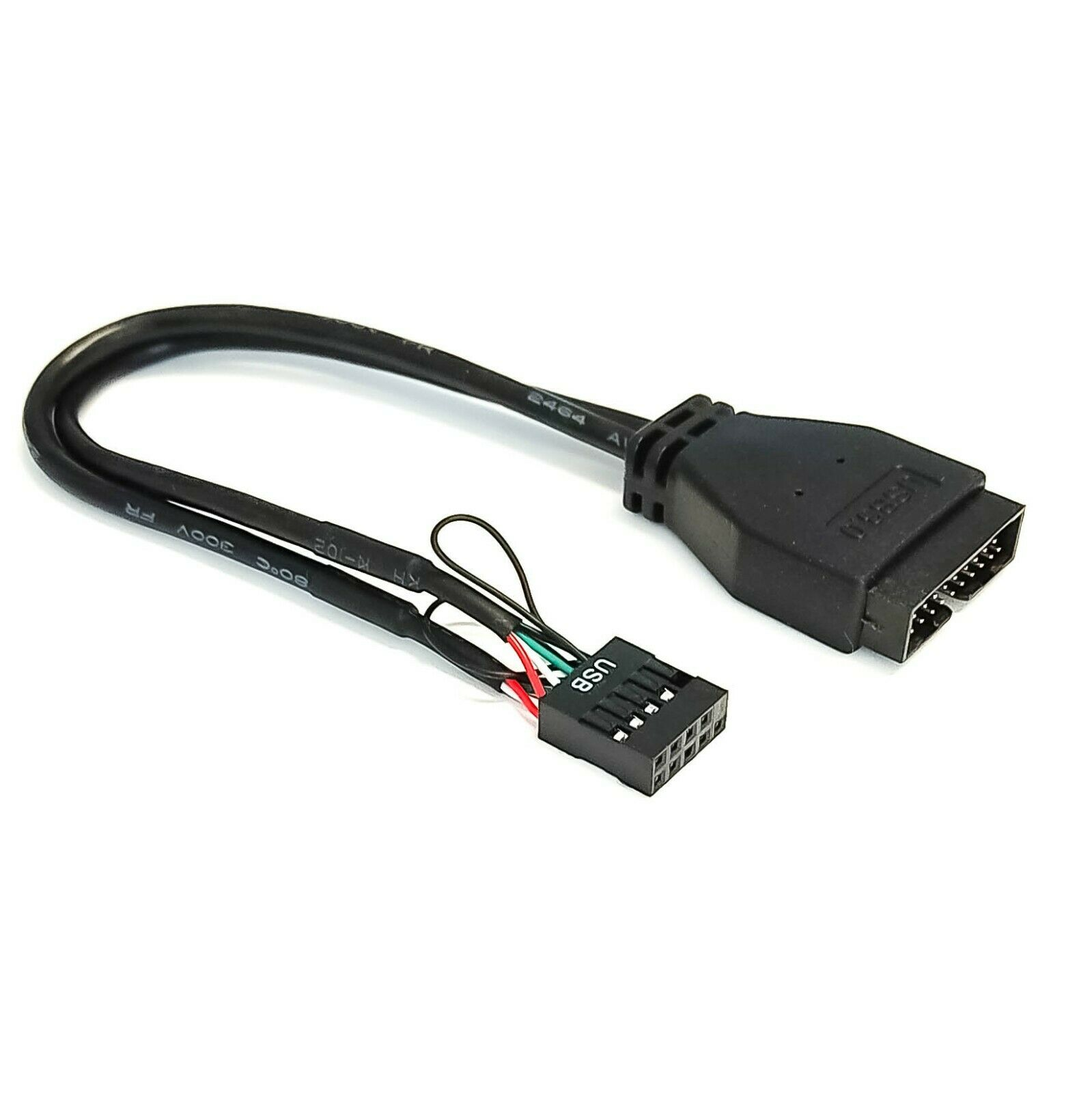 Mainboard USB 3.0 19Pin Header Switch to USB 3.0 Dual Port Bezel USB 3.0 Female Hub Extension 82cm Dual Cable