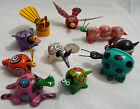 Lot of 10 Assorted Bobble Head Animals in Various Colors Goose Bug Bunny Frog
